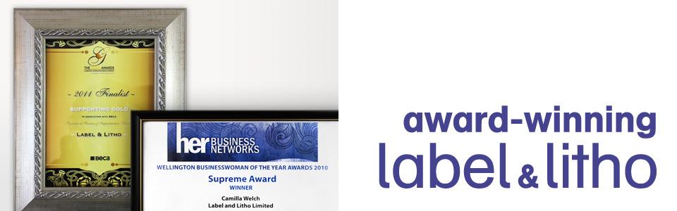 award winning labels
