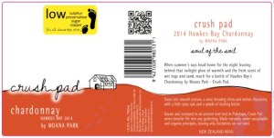 Orange wine label