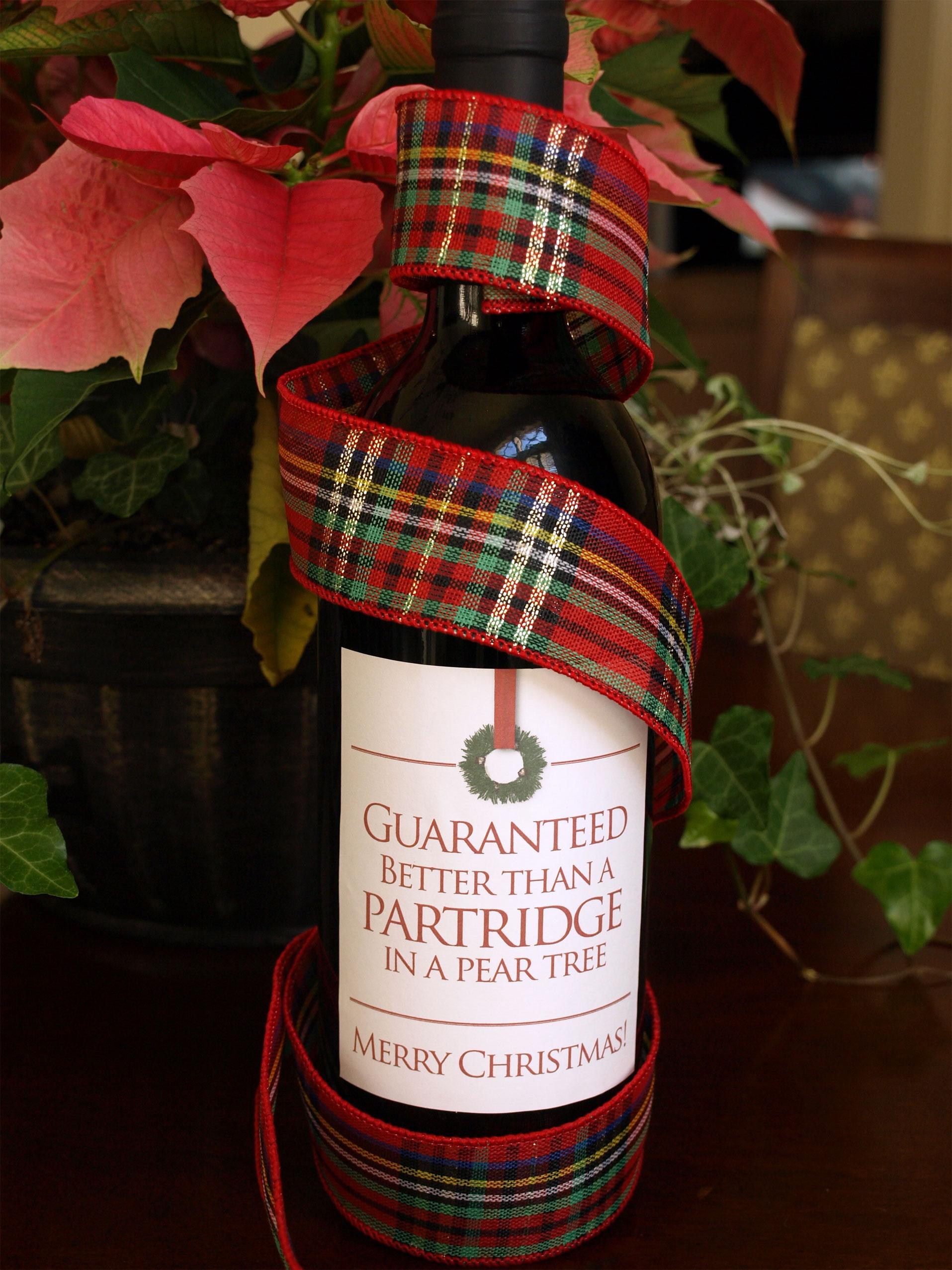 Christmas Wine Labels Label Litho Label Litho