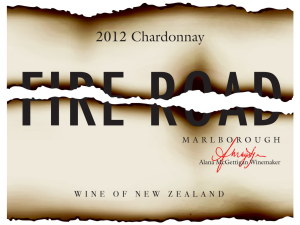 Fire Road Chardonnay wine label