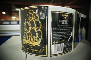 Sentry Hill wine label